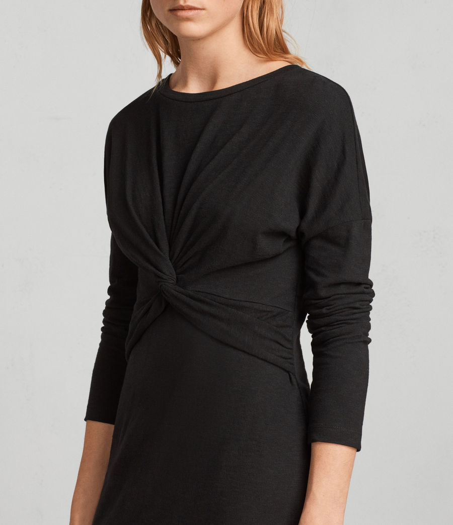 Womens Paloma Long Sleeve Dress (black) - Image 2