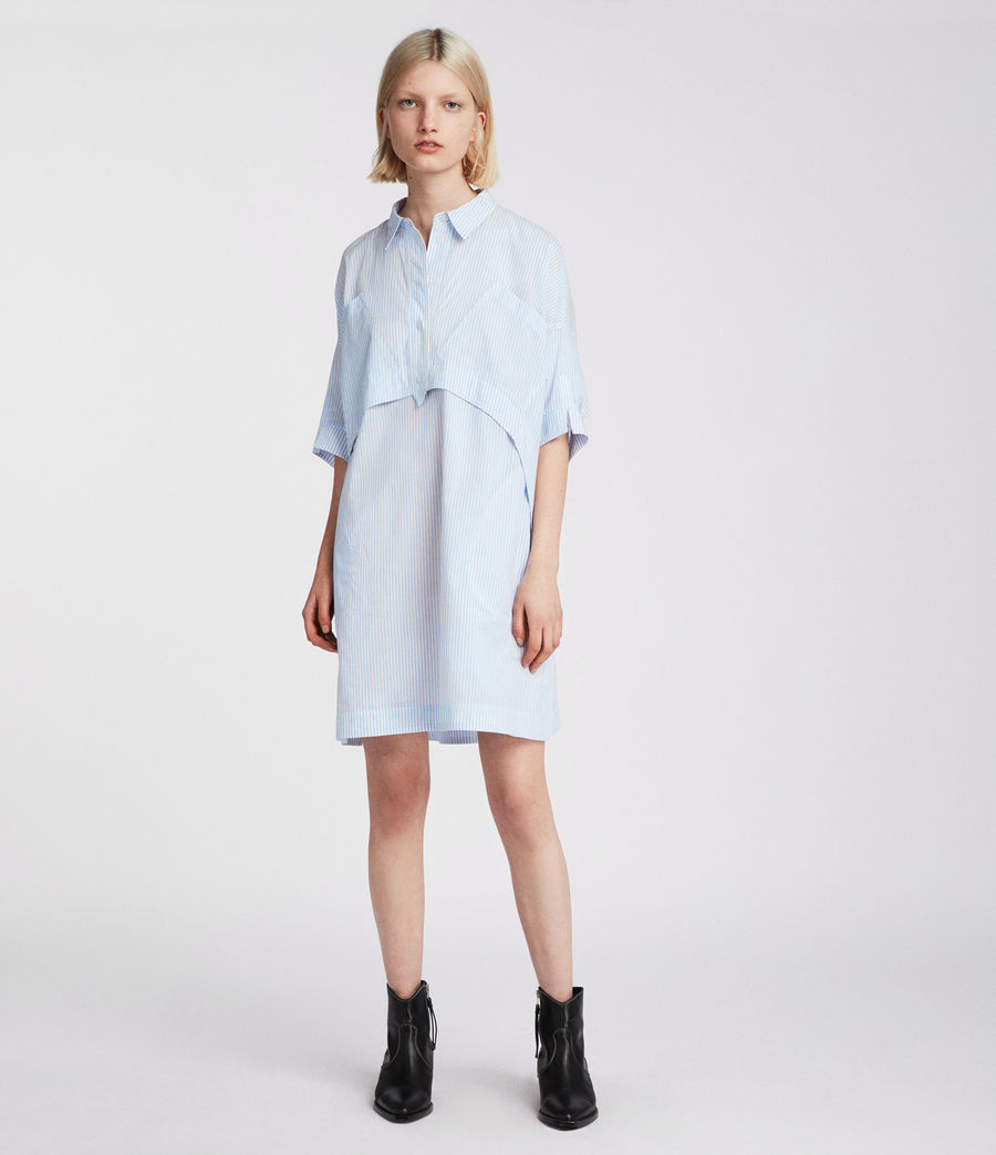 Womens Tara Shirt Dress (blue_chalk_white) - Image 1
