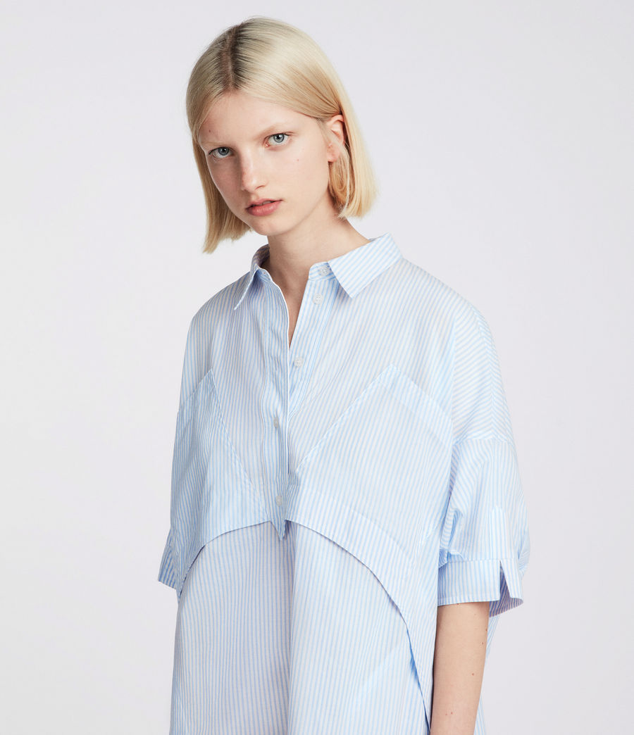 Womens Tara Shirt Dress (blue_chalk_white) - Image 2