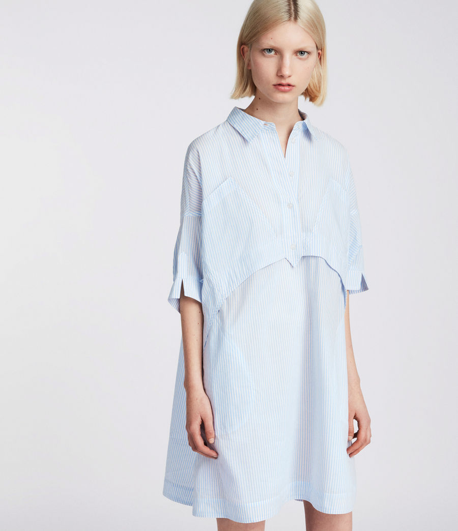 Womens Tara Shirt Dress (blue_chalk_white) - Image 3