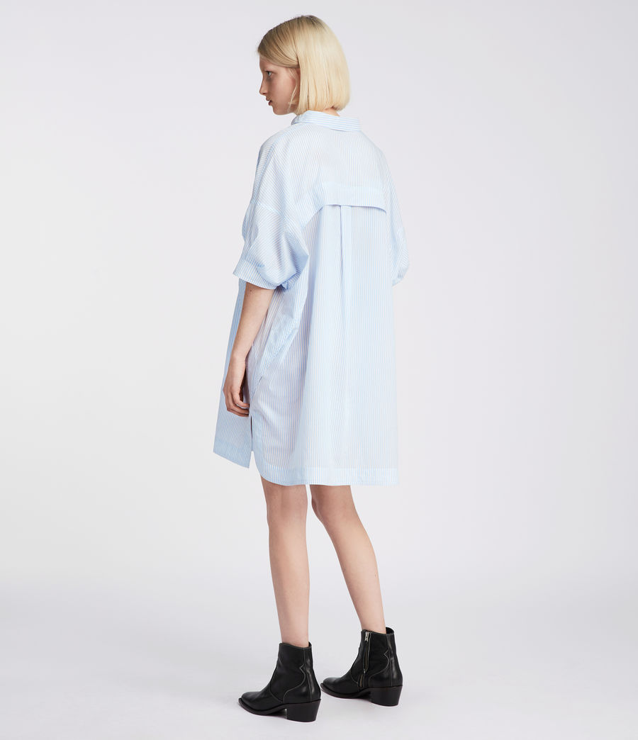 Womens Tara Shirt Dress (blue_chalk_white) - Image 4