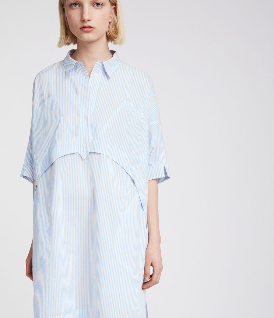 Womens Tara Shirt Dress (blue_chalk_white) - Image 5