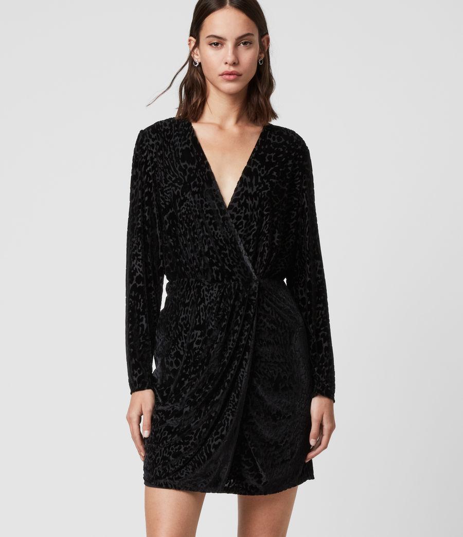 Damen Laney Devore Kleid (black) - Image 3
