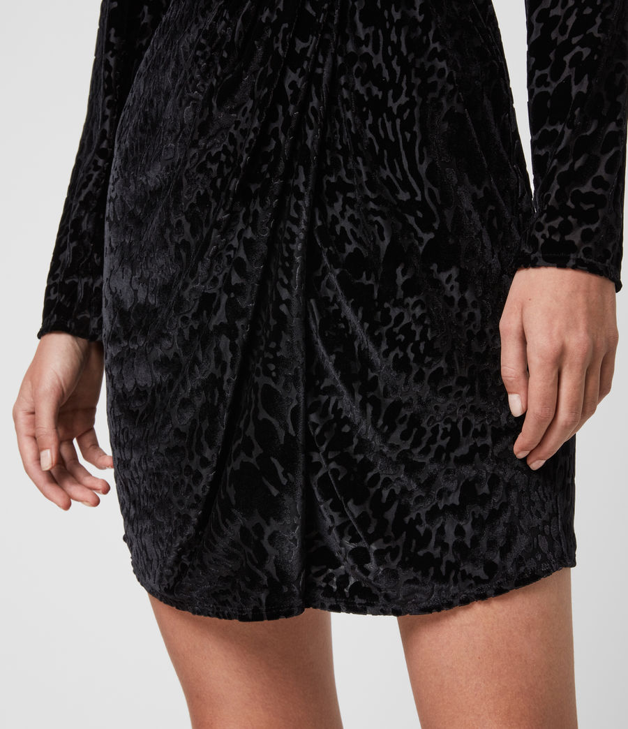 Womens Laney Devore Dress (black) - Image 6