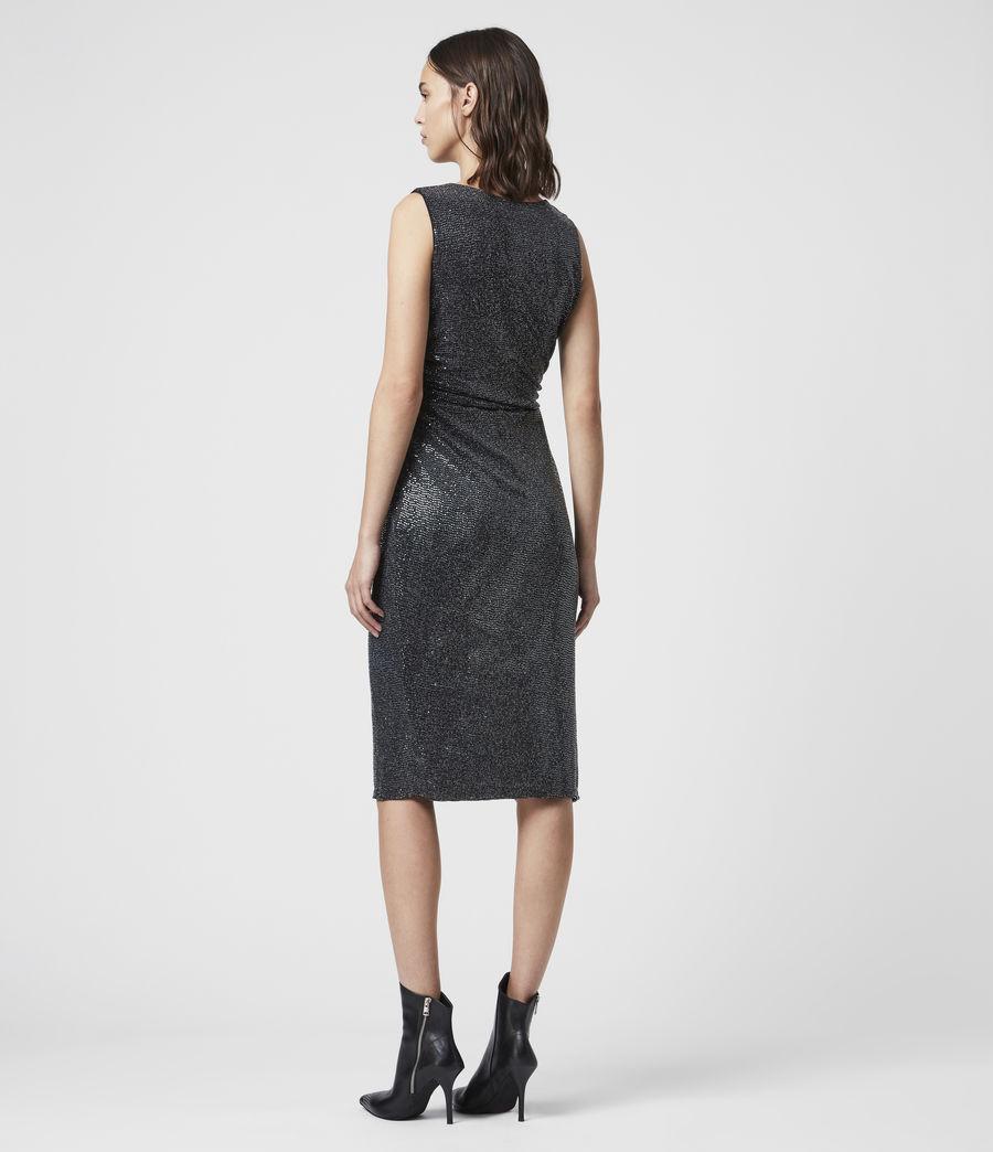Womens Allegra Wrap Shimmer Dress (black) - Image 6
