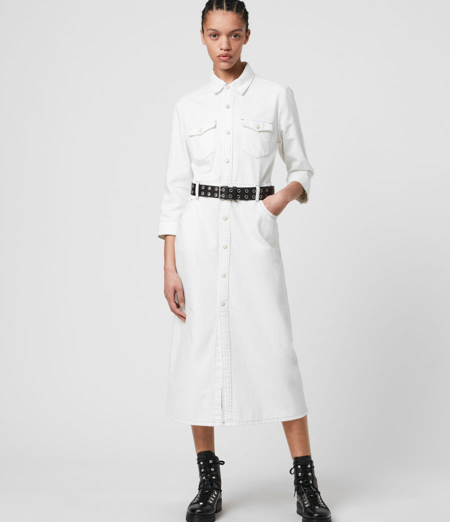Women's Polly Denim Dress (white) - Image 1