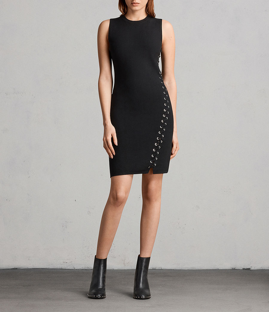 Womens Amara Knit Dress (black) - Image 1