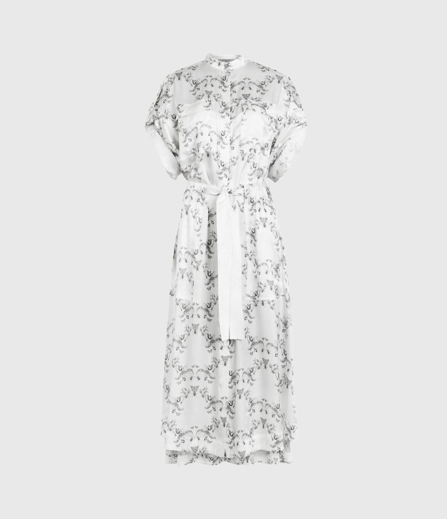 Womens Luciana Assam Dress (white) - Image 2