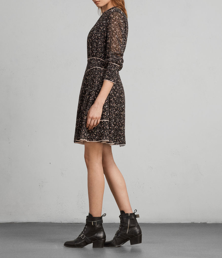 Womens Kay Pepper Dress (black) - Image 3