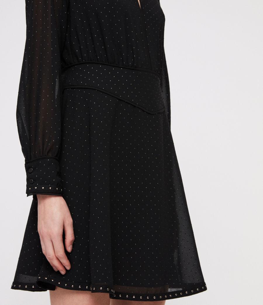 Damen Kay Stud Kleid (black) - Image 2