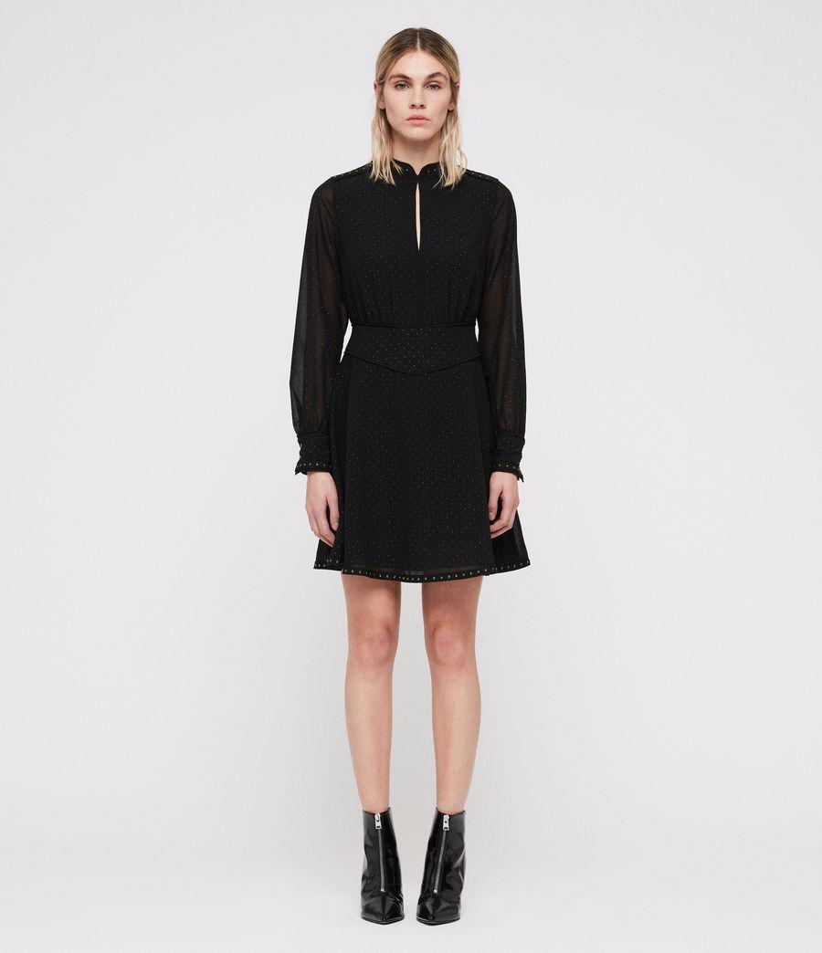 Damen Kay Stud Kleid (black) - Image 3