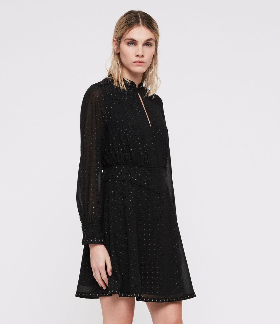 Damen Kay Stud Kleid (black) - Image 4