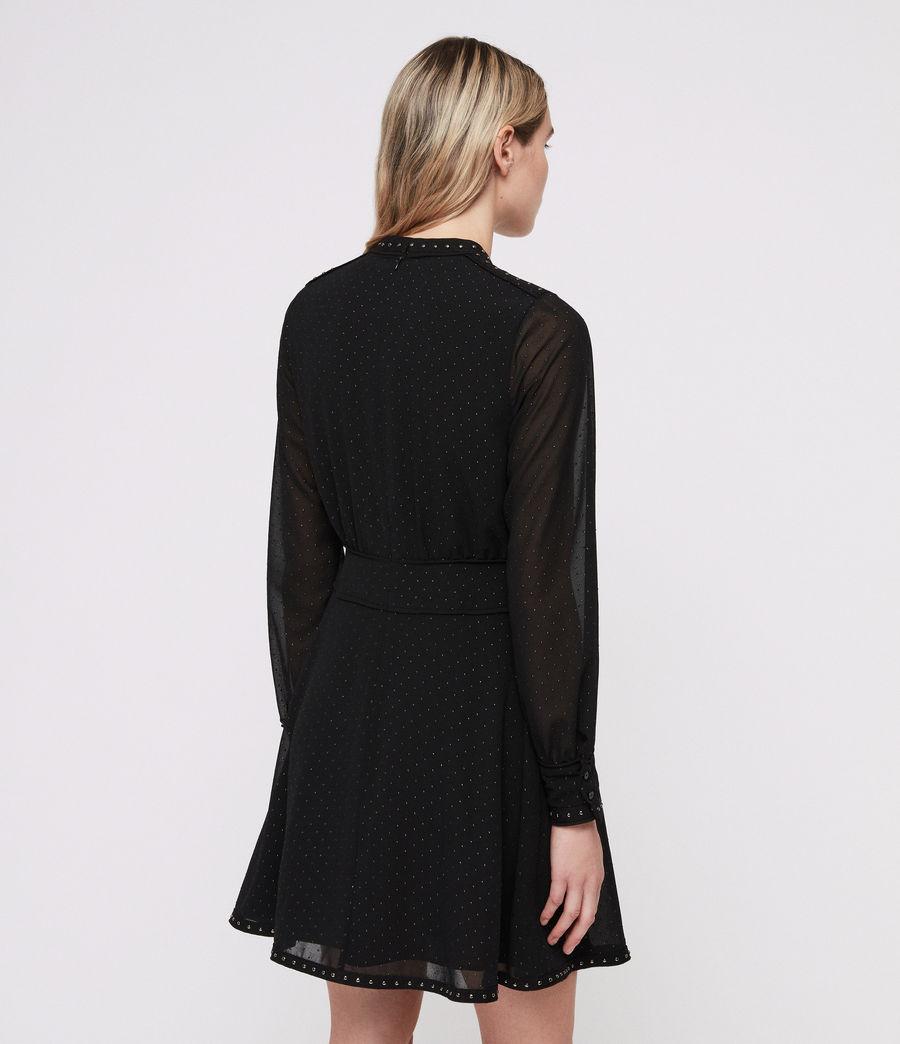 Damen Kay Stud Kleid (black) - Image 5
