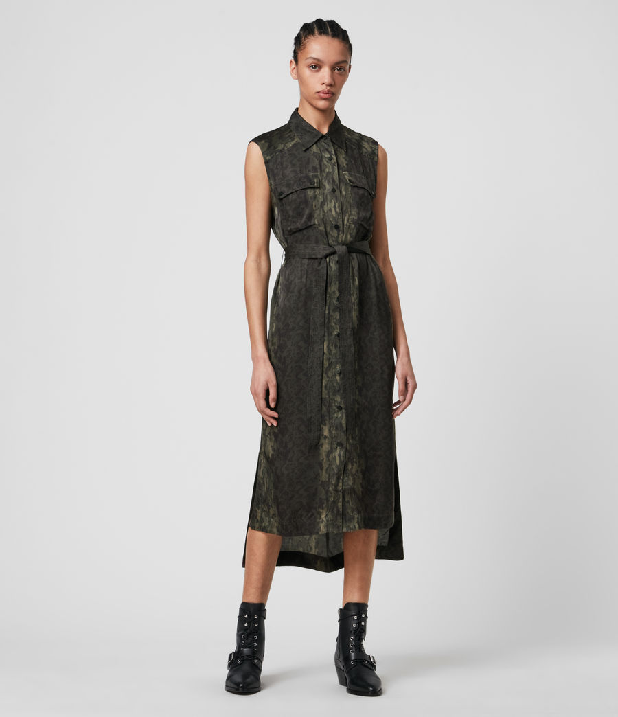 Women's Esthie Masala Dress (forest_green) - Image 3