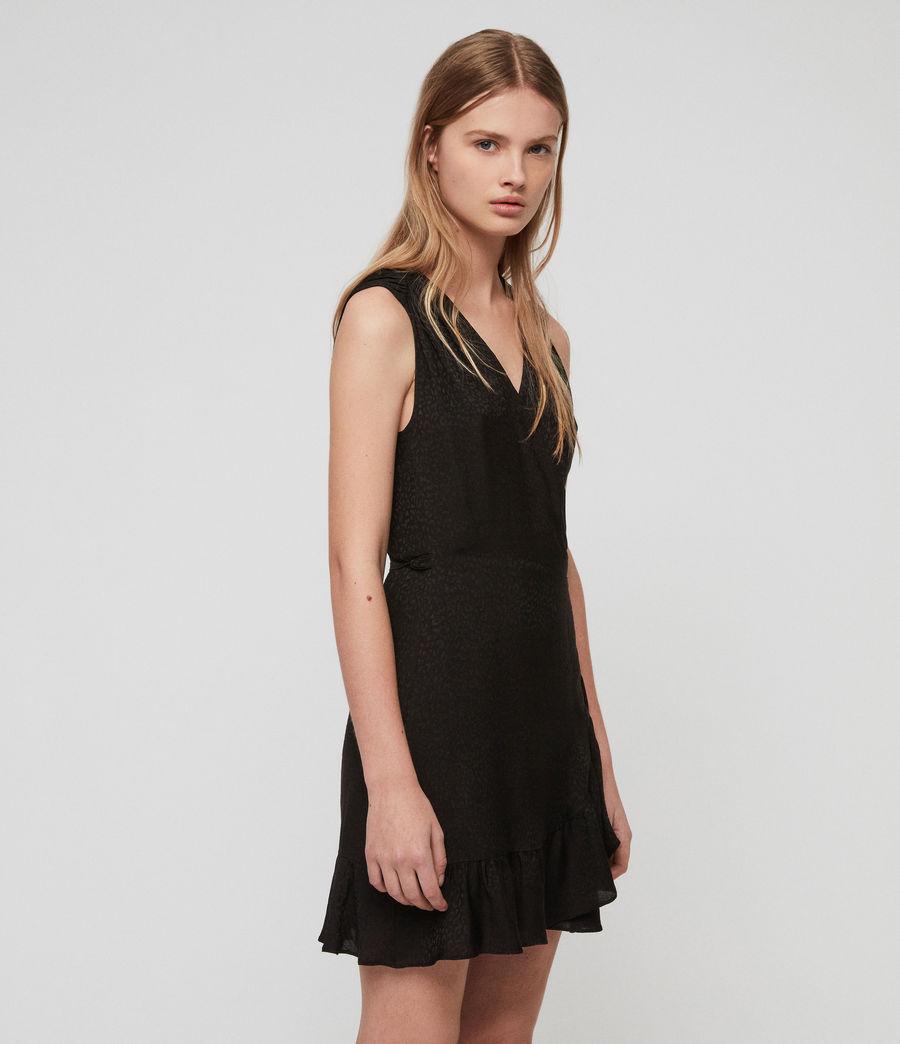 Damen Krystal Kleid (black_leopard) - Image 1