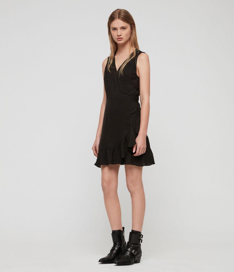 Womens Krystal Leopard Dress (black_leopard) - Image 2