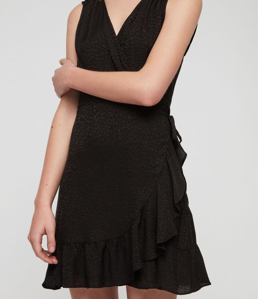 Damen Krystal Kleid (black_leopard) - Image 3
