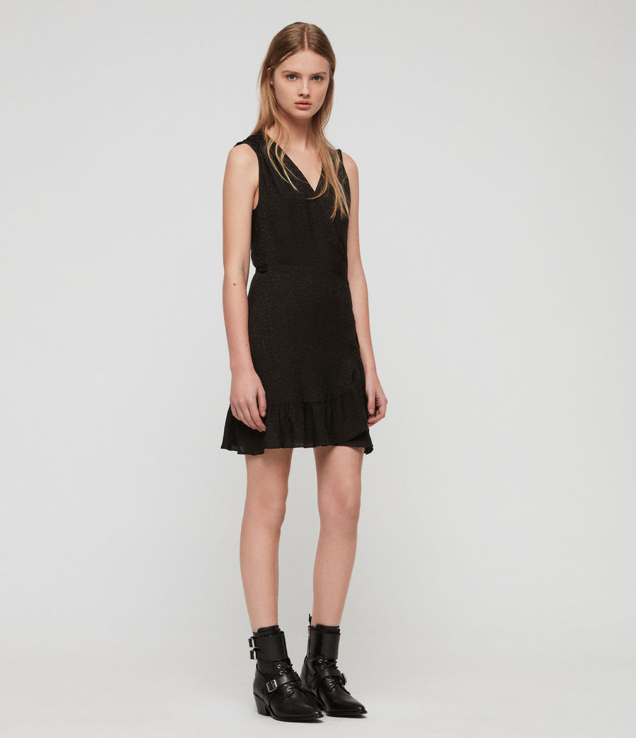 Damen Krystal Kleid (black_leopard) - Image 4