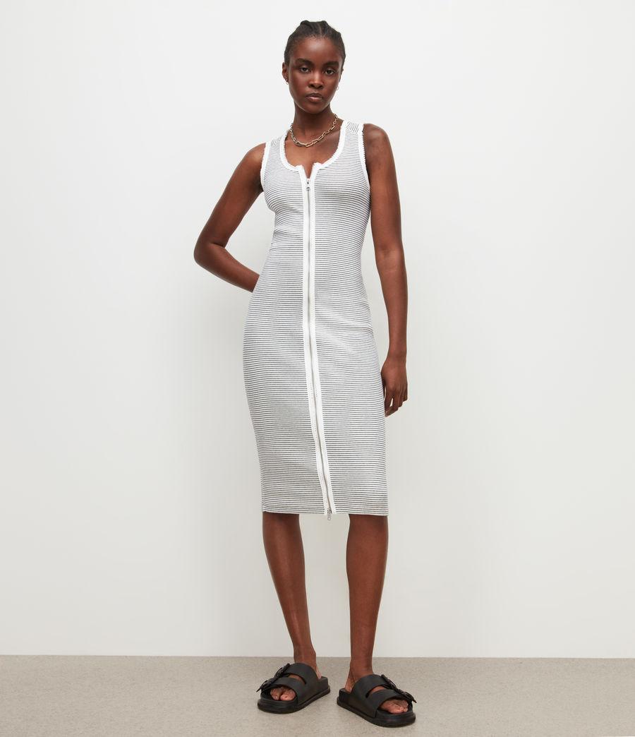Women's Alicia Stripe Dress (chalk_black) - Image 1