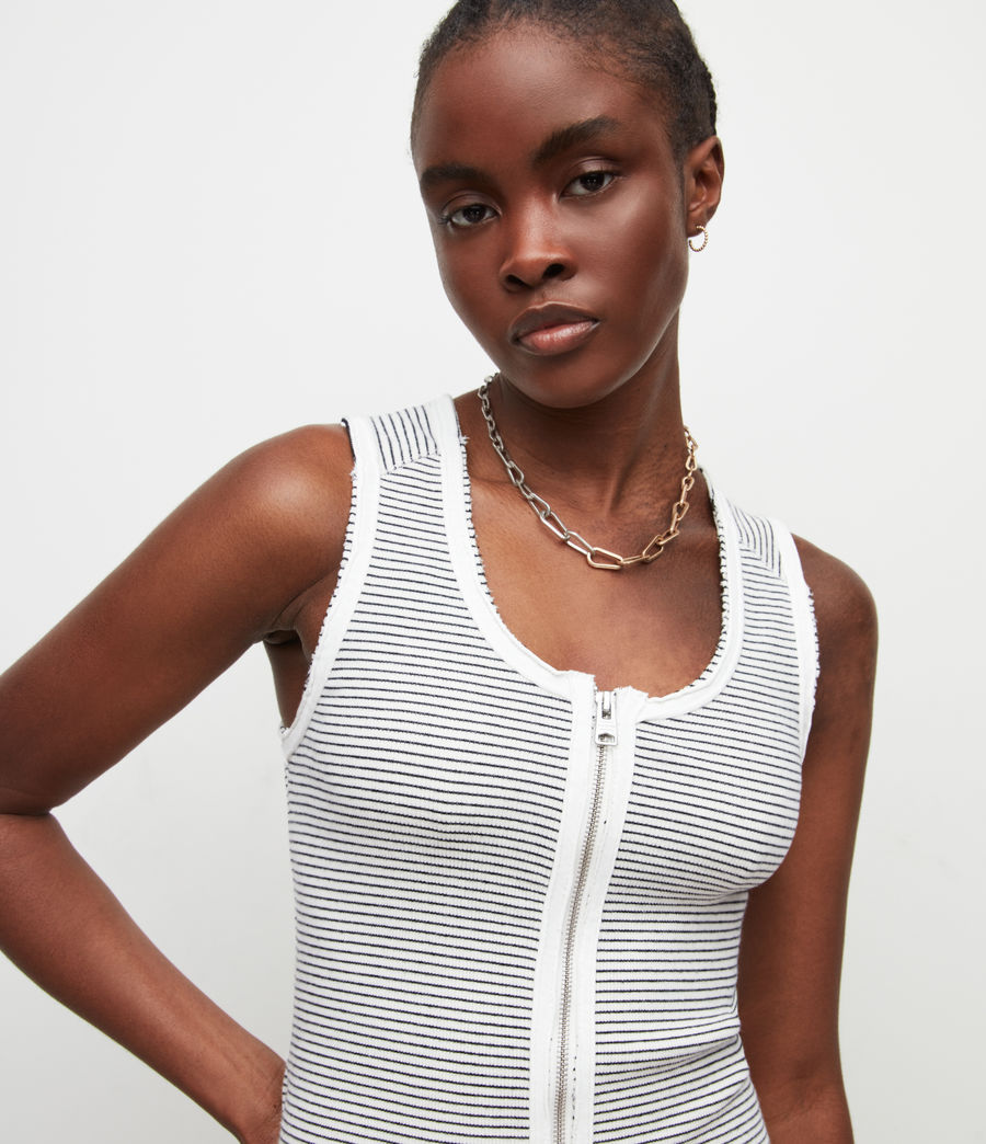 Women's Alicia Stripe Dress (chalk_black) - Image 2