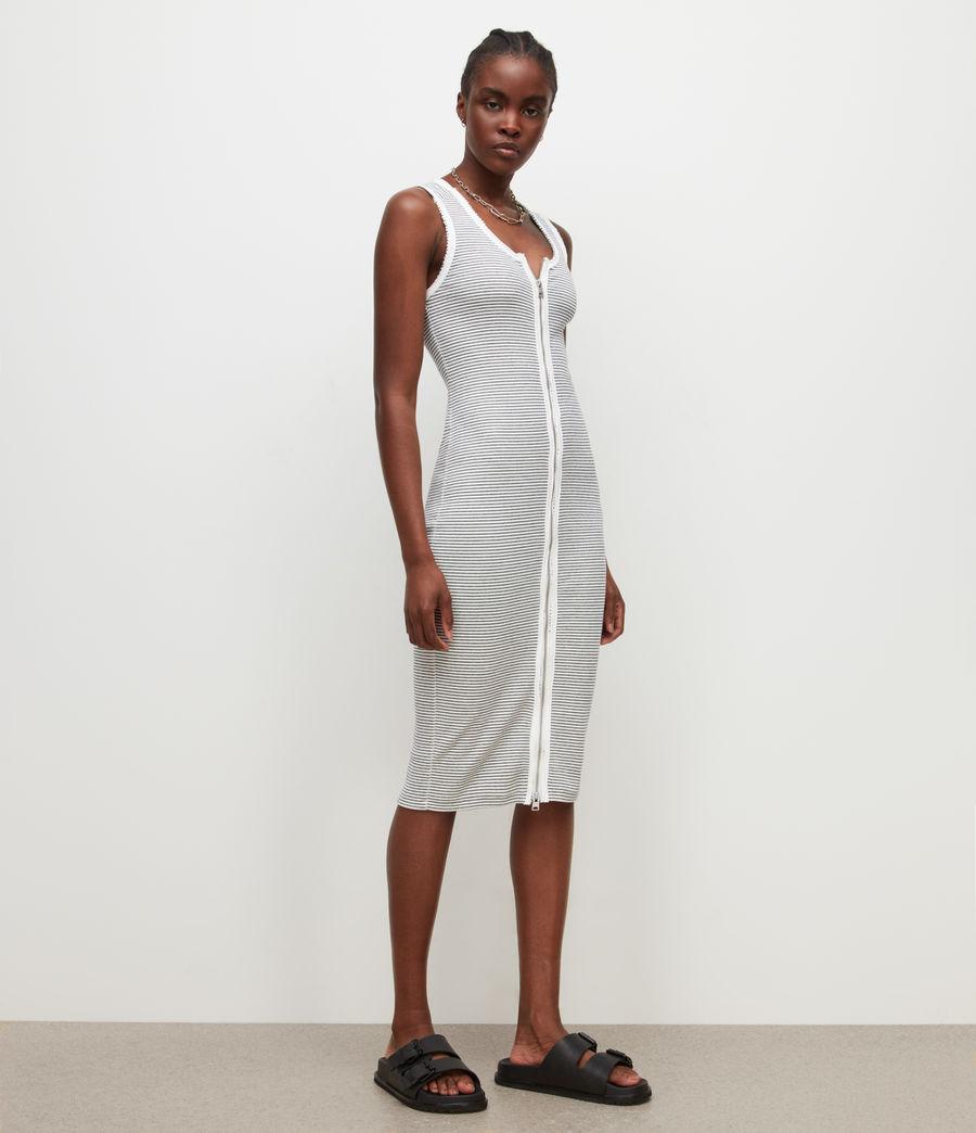 Women's Alicia Stripe Dress (chalk_black) - Image 3
