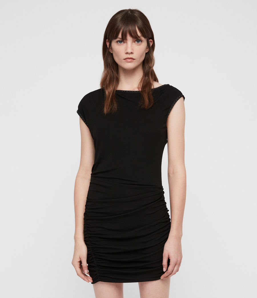 Womens Mae Jersey Dress (black) - Image 1