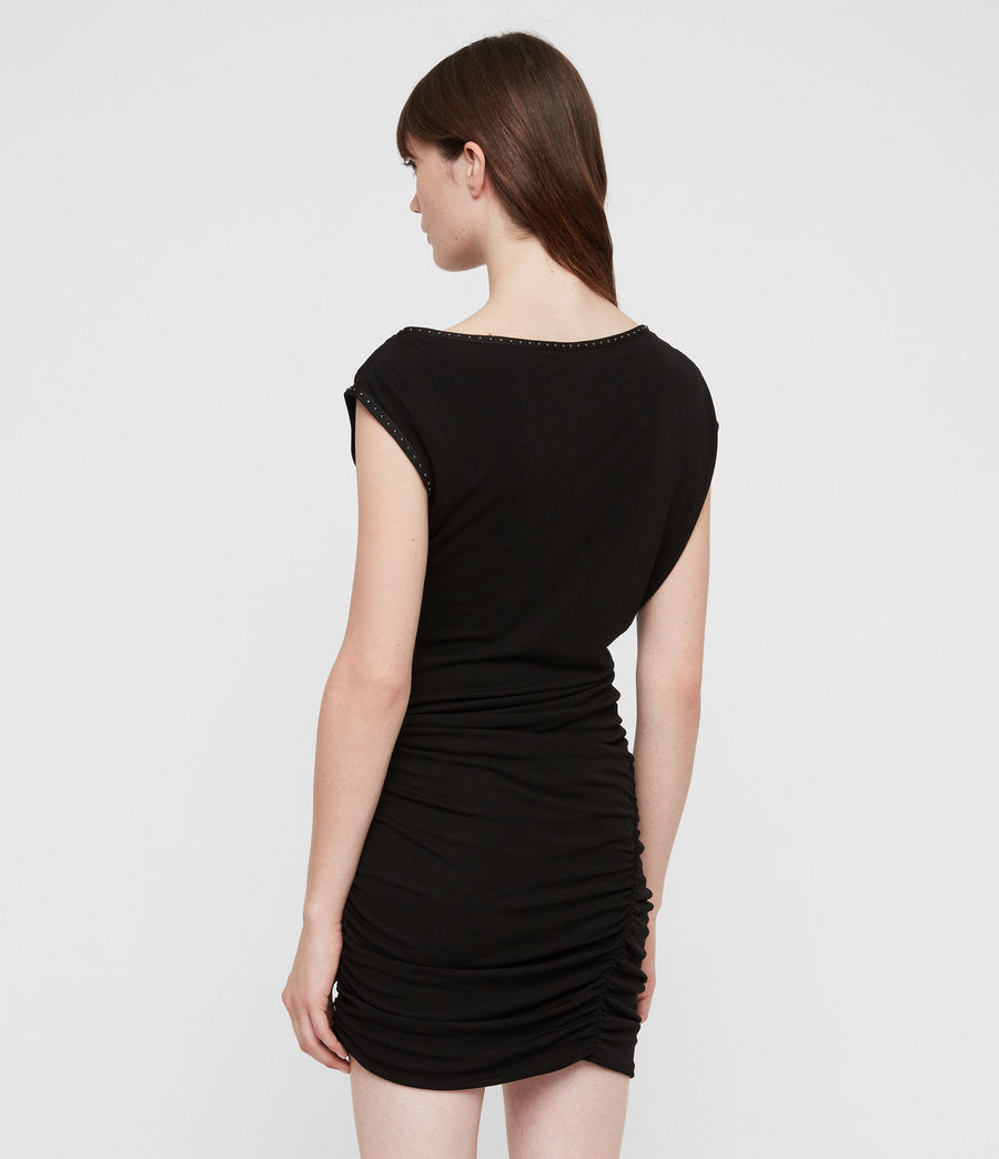 Womens Mae Jersey Dress (black) - Image 5