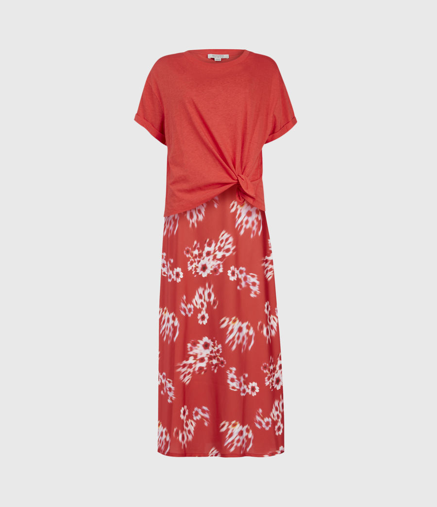 Womens Lenni 2-In-1 Jasmine Dress (red) - Image 2