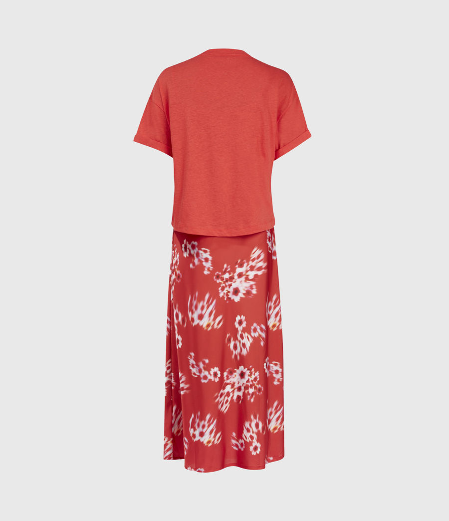 Womens Lenni 2-In-1 Jasmine Dress (red) - Image 3