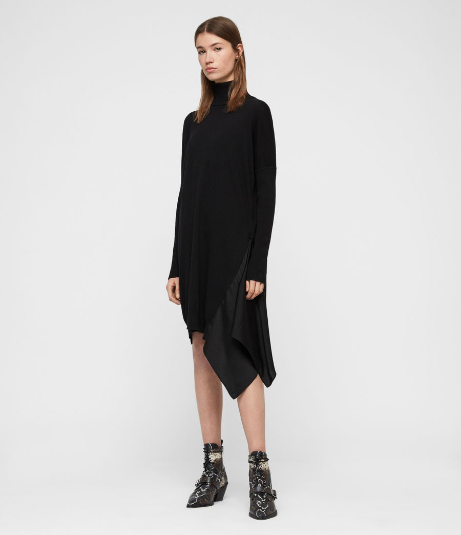Women's Alda Roll Neck Dress (black) - Image 1