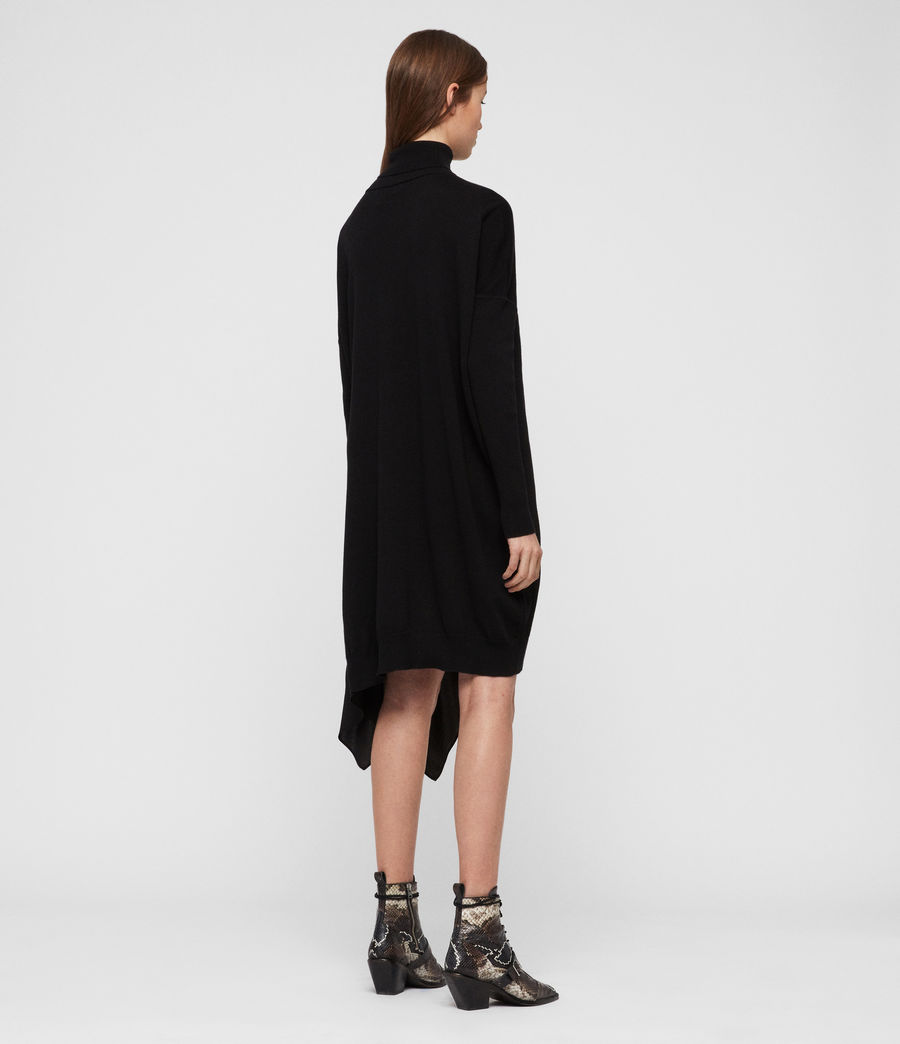 Women's Alda Roll Neck Dress (black) - Image 4