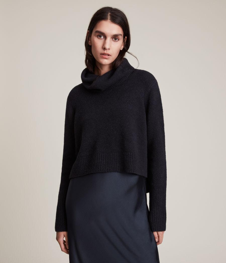 Women's Tierny Roll Neck 2-In-1 Dress (squid_ink_blue) - Image 3