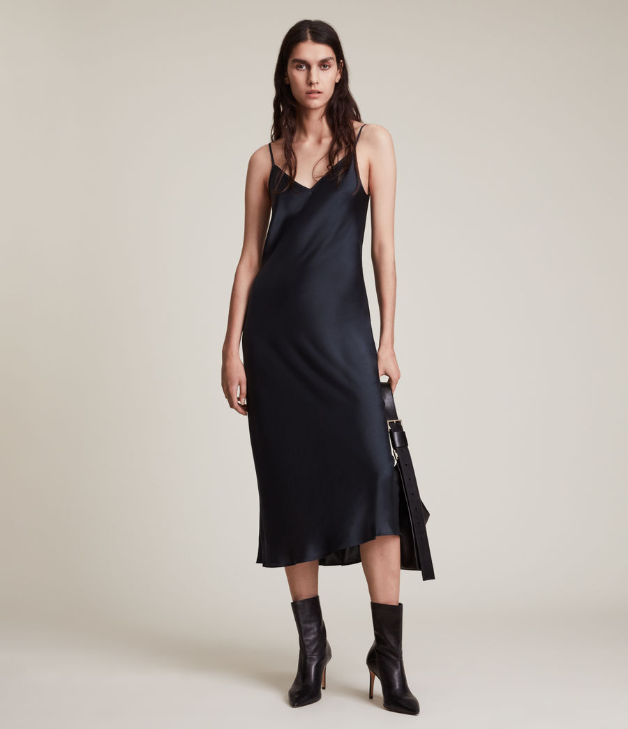 Women's Tierny Roll Neck 2-In-1 Dress (squid_ink_blue) - Image 4