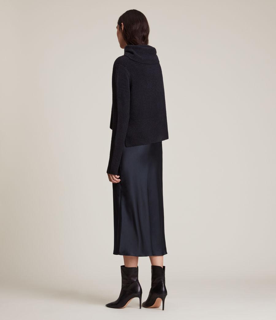 Women's Tierny Roll Neck 2-In-1 Dress (squid_ink_blue) - Image 5