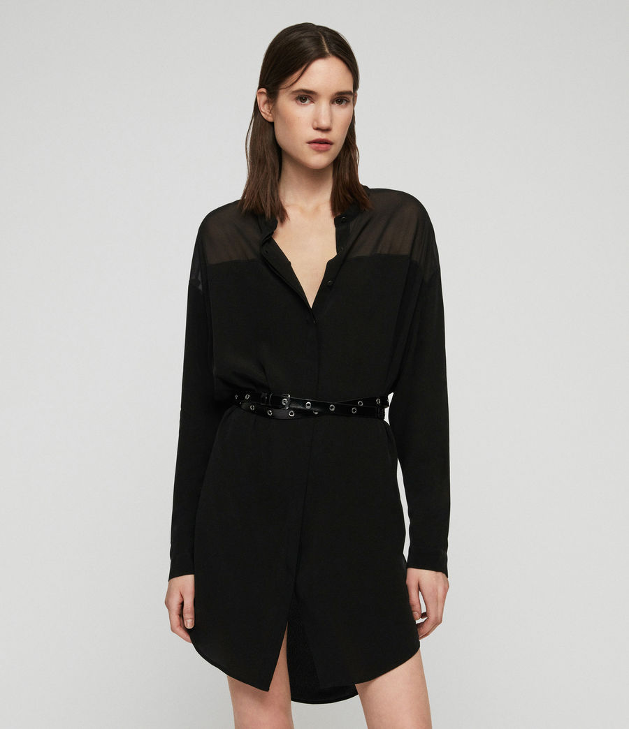 Womens Helle Dress (black) - Image 2