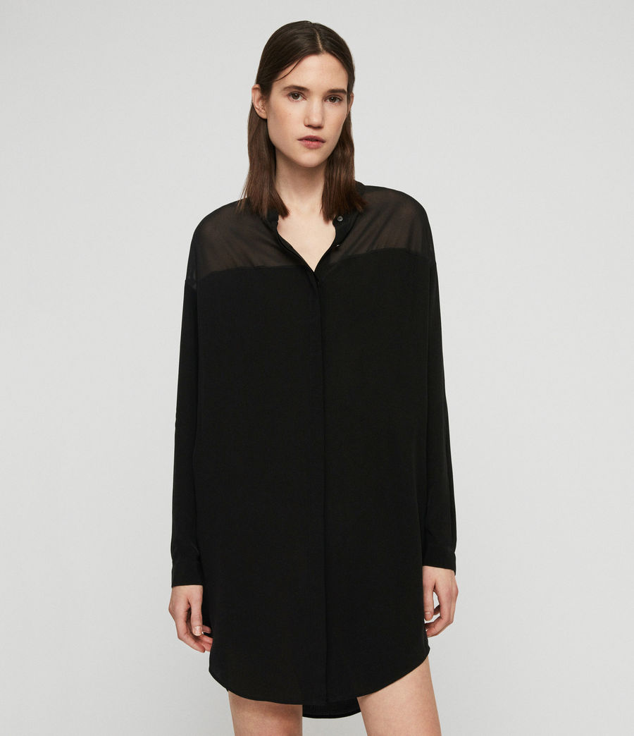 Womens Helle Dress (black) - Image 4