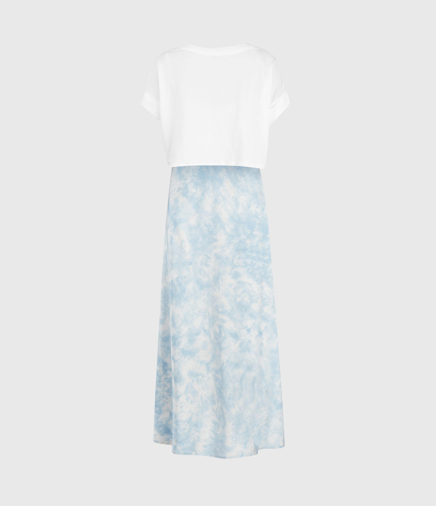 Womens Imo Tie Dye 2-In-1 Dress (chalk_blue) - Image 3