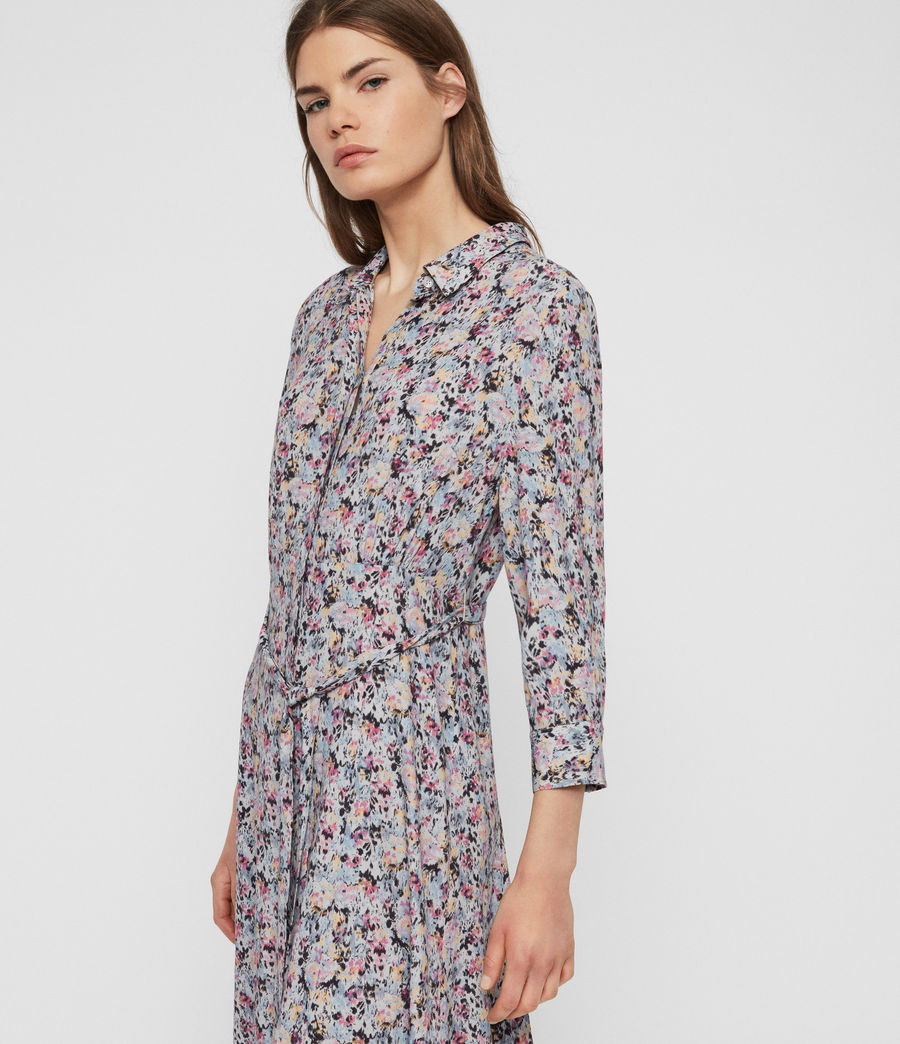 Womens Chiara Sketch Dress (violet) - Image 2