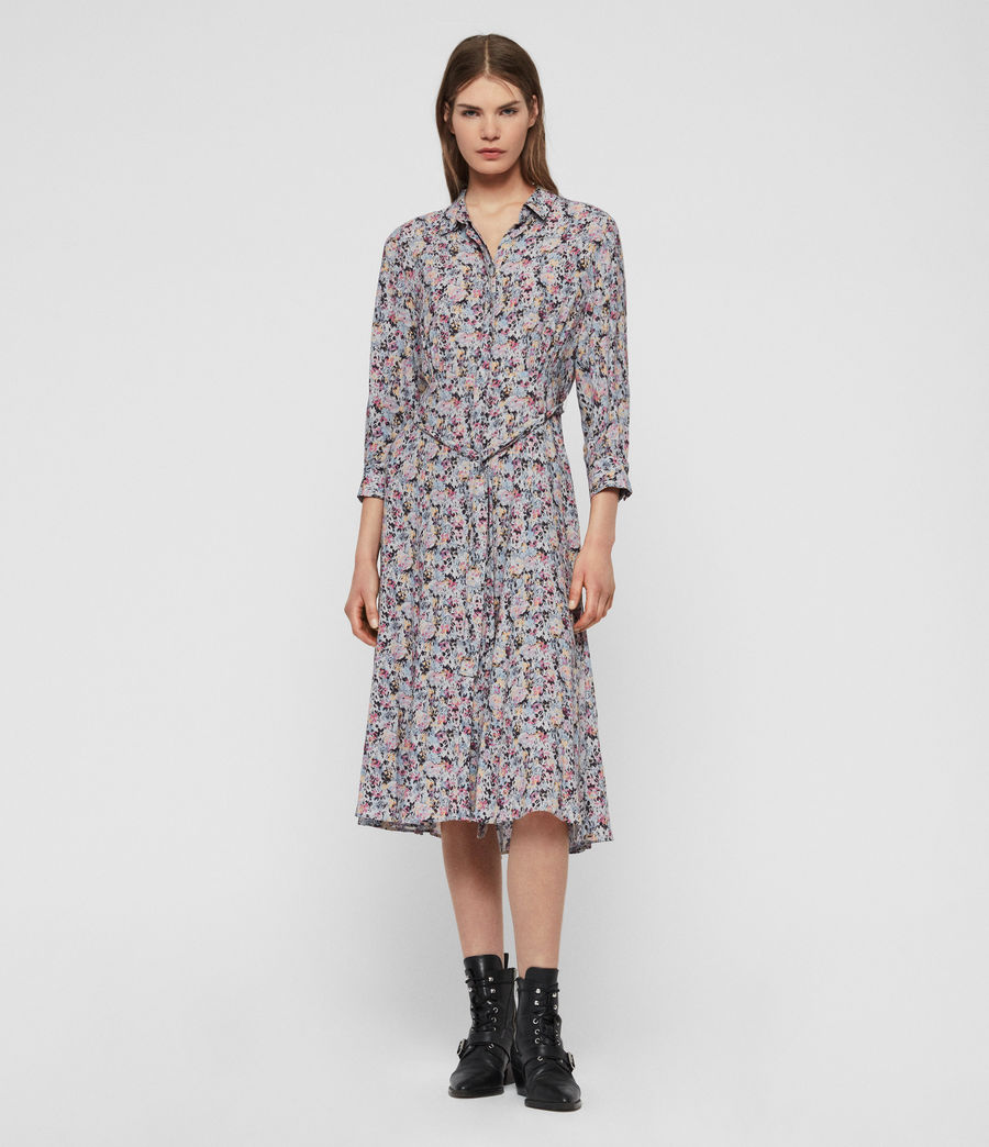 Womens Chiara Sketch Dress (violet) - Image 3