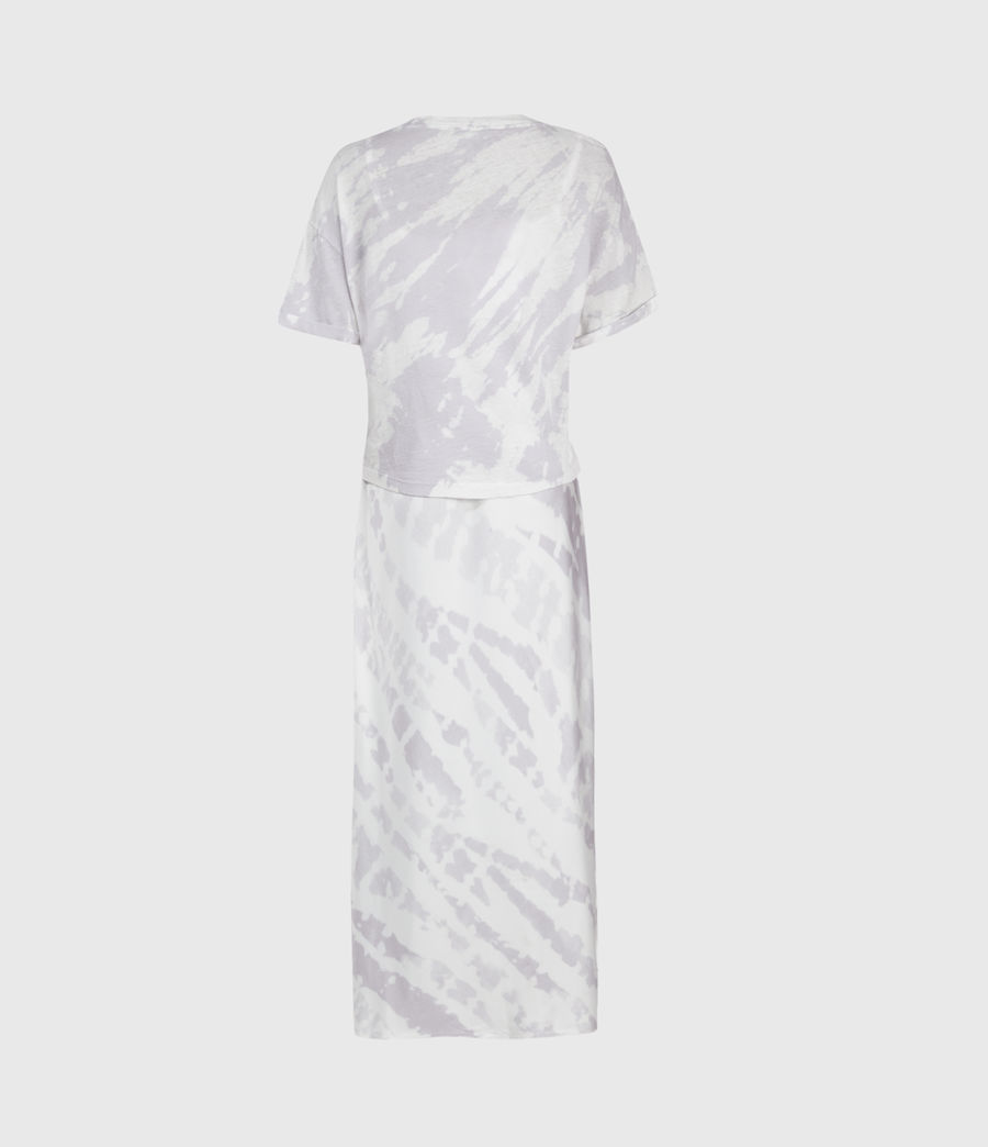 Womens Knot Tie Dye 2-In-1 Dress (lavender) - Image 3
