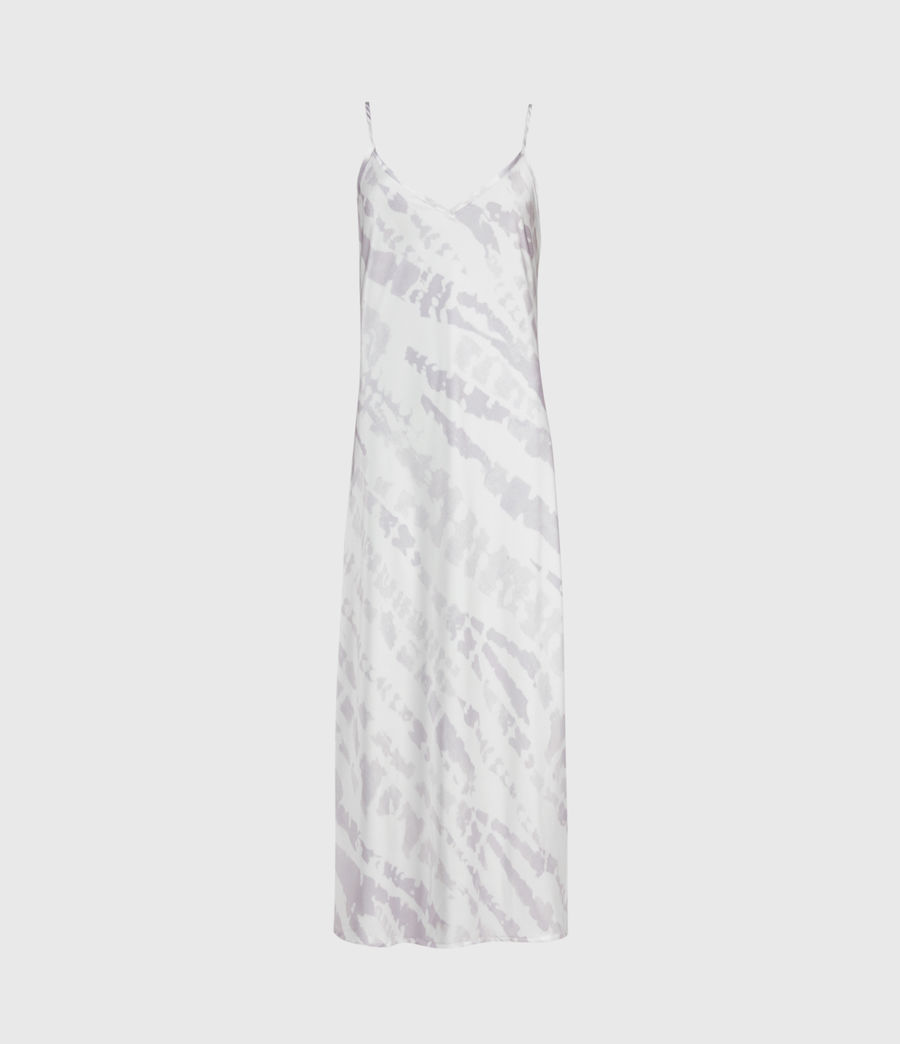 Womens Knot Tie Dye 2-In-1 Dress (lavender) - Image 4