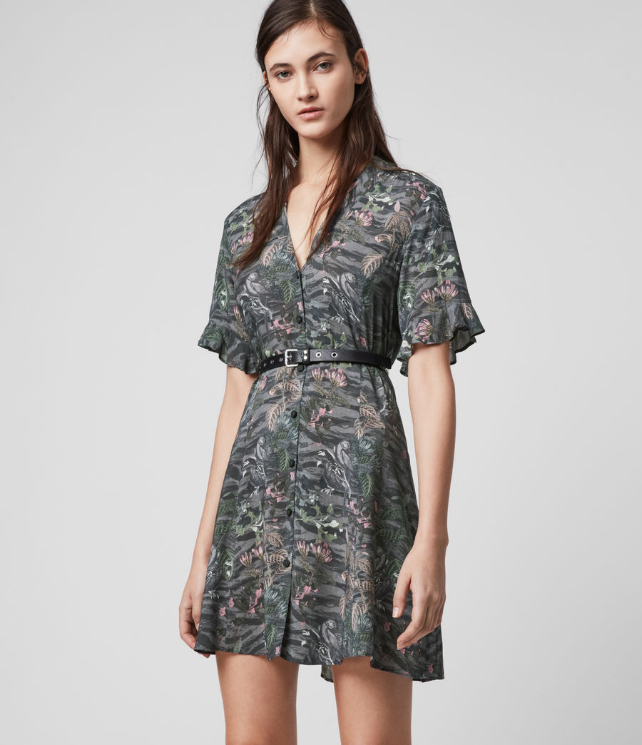 Womens Fay Paradeep Dress (green) - Image 4