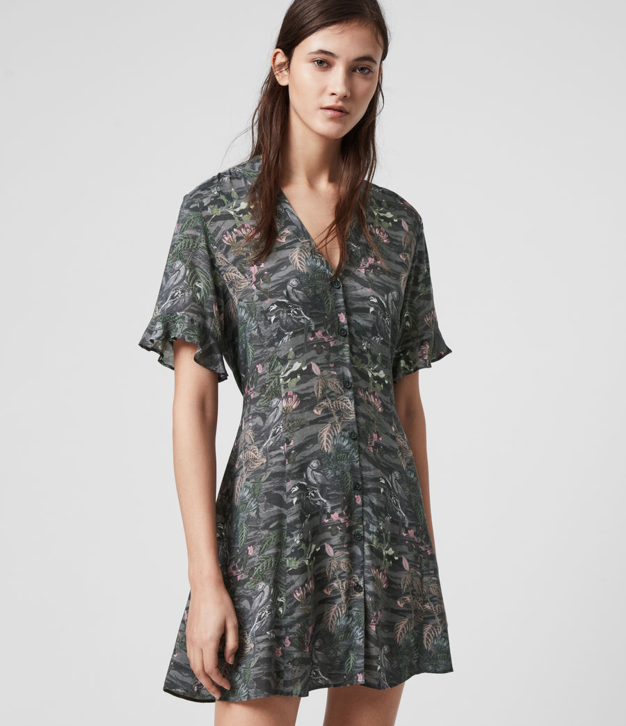 Womens Fay Paradeep Dress (green) - Image 2