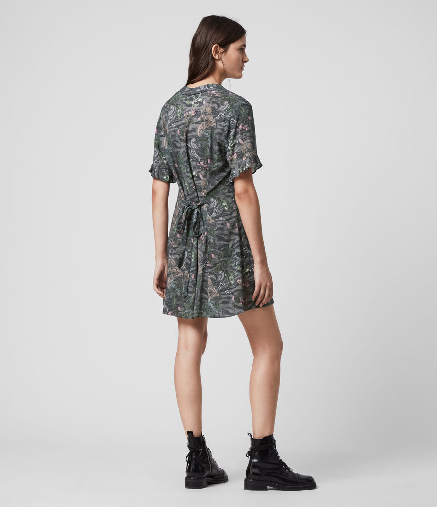 Womens Fay Paradeep Dress (green) - Image 3