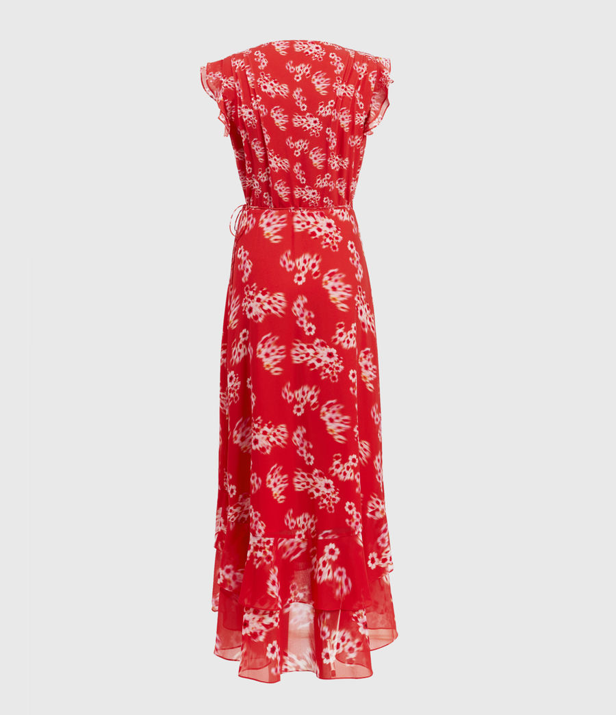 Women's Dela Jasmine Dress (red) - Image 2