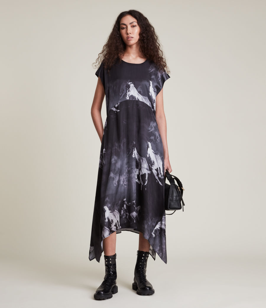Women's Gianna Epoto Silk Blend Dress (black) - Image 1