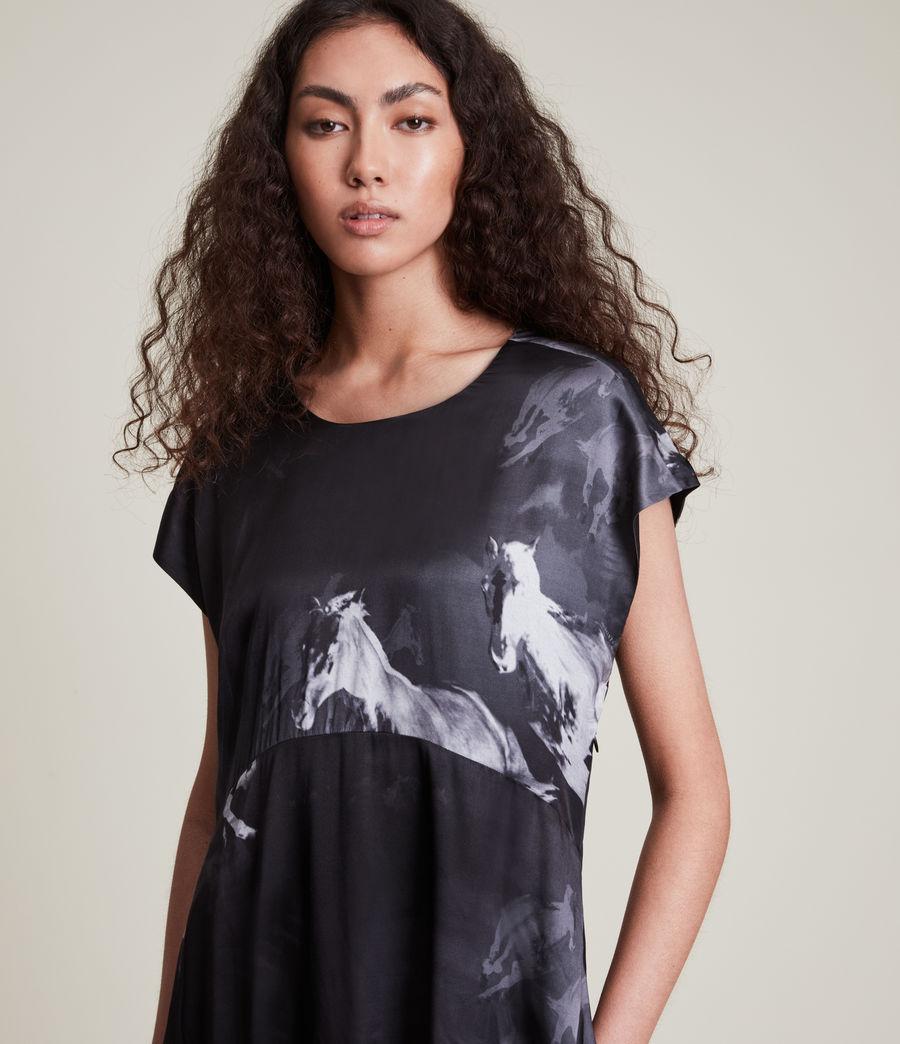 Women's Gianna Epoto Silk Blend Dress (black) - Image 2
