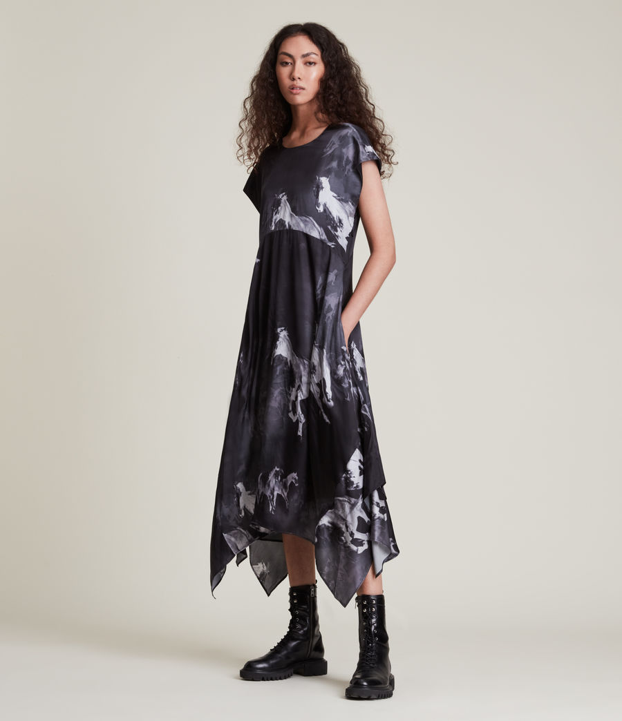 Women's Gianna Epoto Silk Blend Dress (black) - Image 3