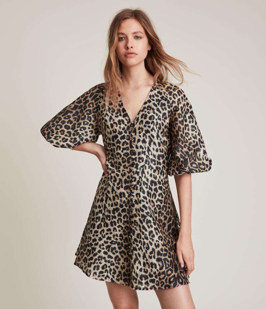 Women's Ilora Leppo Linen Blend Dress (leppo_yellow) - Image 1