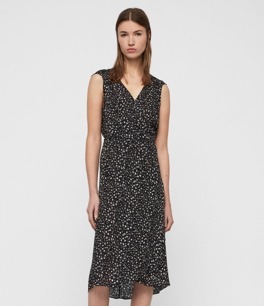 Womens Krystie Pippa Dress (black) - Image 3